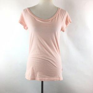 LAmade Round Neck Blouse Size Large Pink Cotton